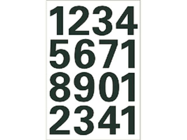 Witte getallen 0-9 25mm