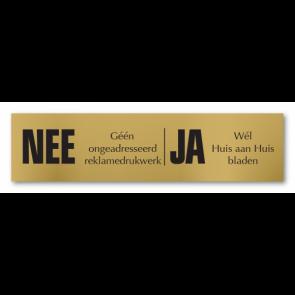 Nee/Ja bronskleurig