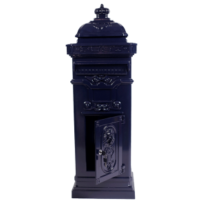 Klassieke pilaar brievenbus - blauw
