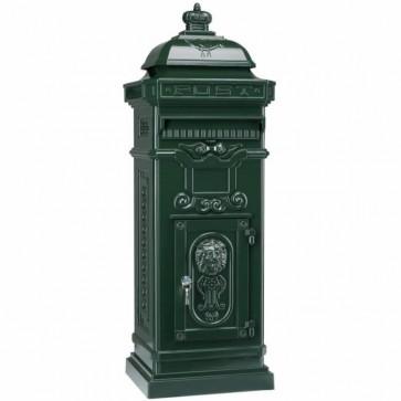 Klassieke pilaar brievenbus - groen