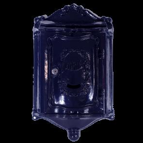 Nostalgische wandbrievenbus blauw