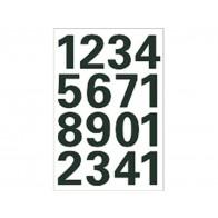 Zwarte getallen 0-9 25mm