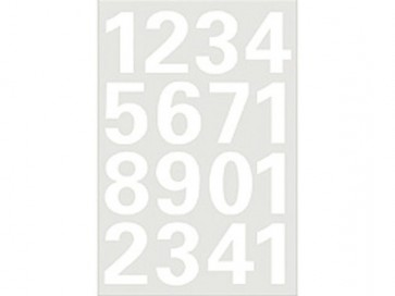 Cijfer stickers brievenbus