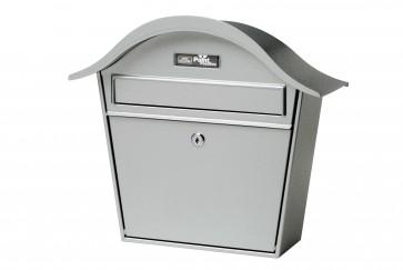 Zilverkleurige brievenbus
