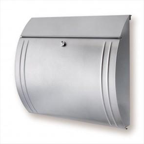 Zilverkleur brievenbus